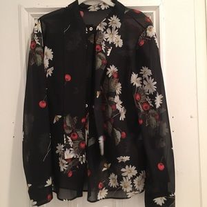 RED Valentino Tie Neck Printed Blouse